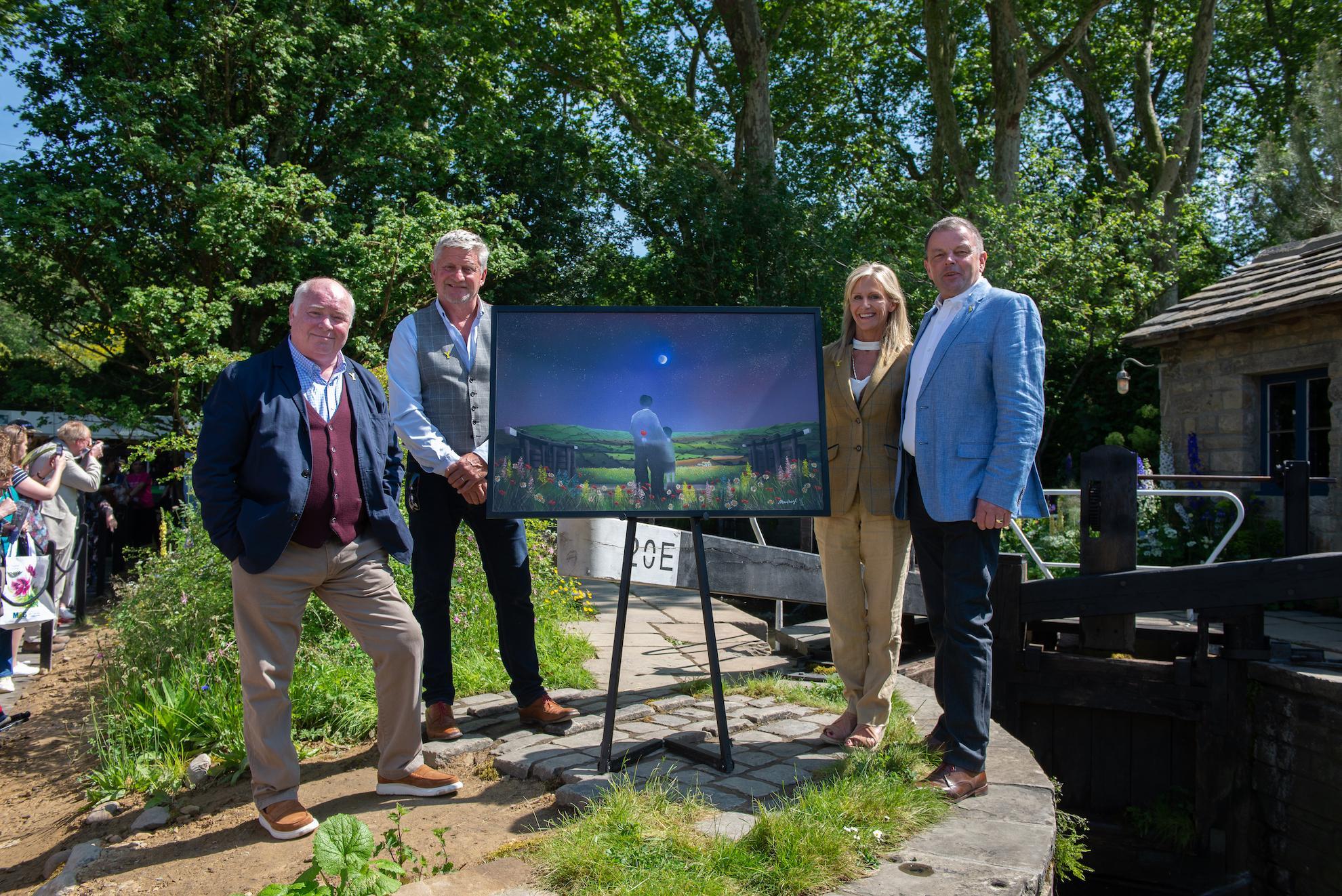 Artist Mackenzie Thorpe RHS Chelsea Flower Show Welcome to Yorkshire Garden
