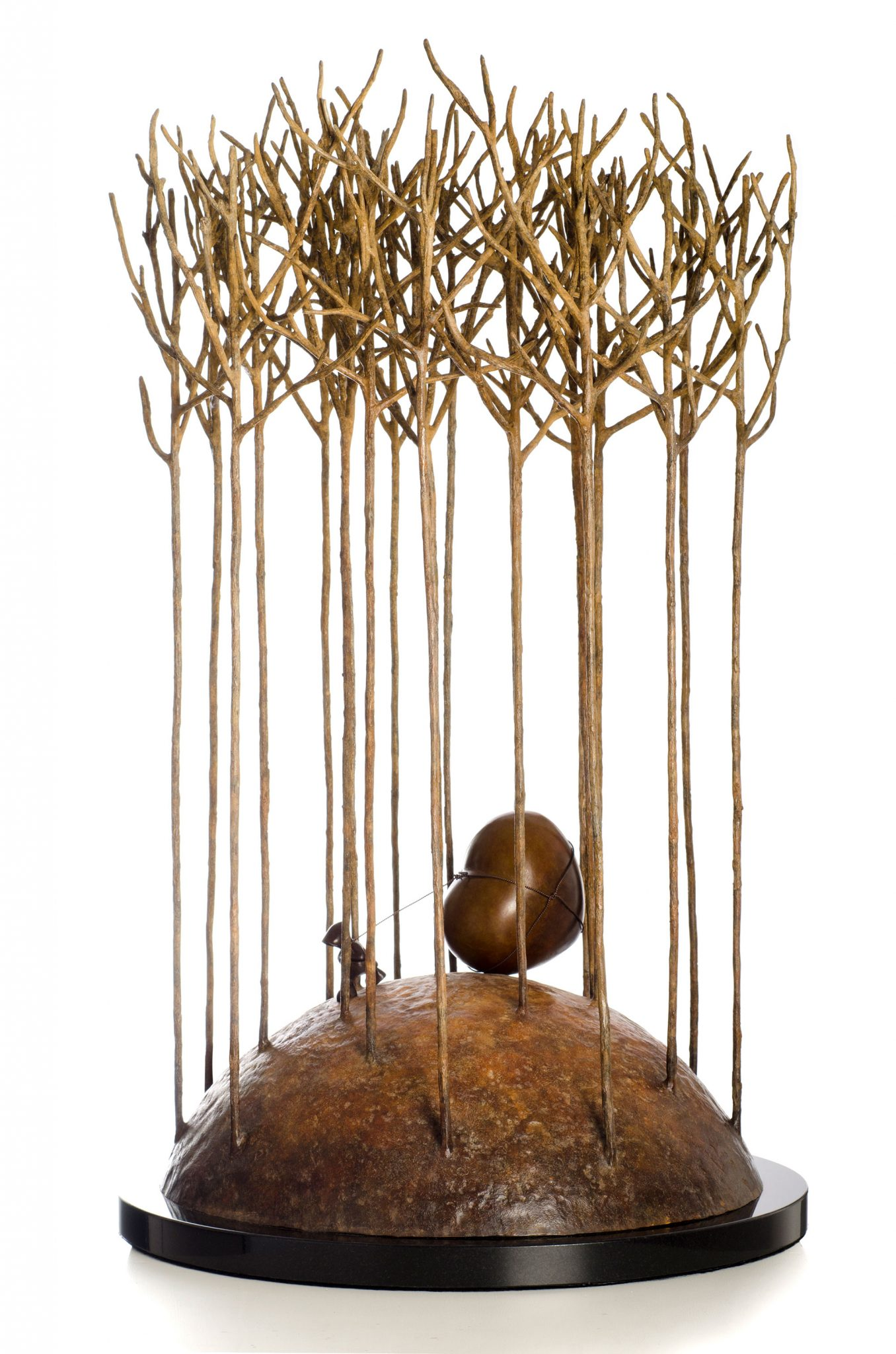 Love in the forest bronze sculpture by Mackenzie Thorpe