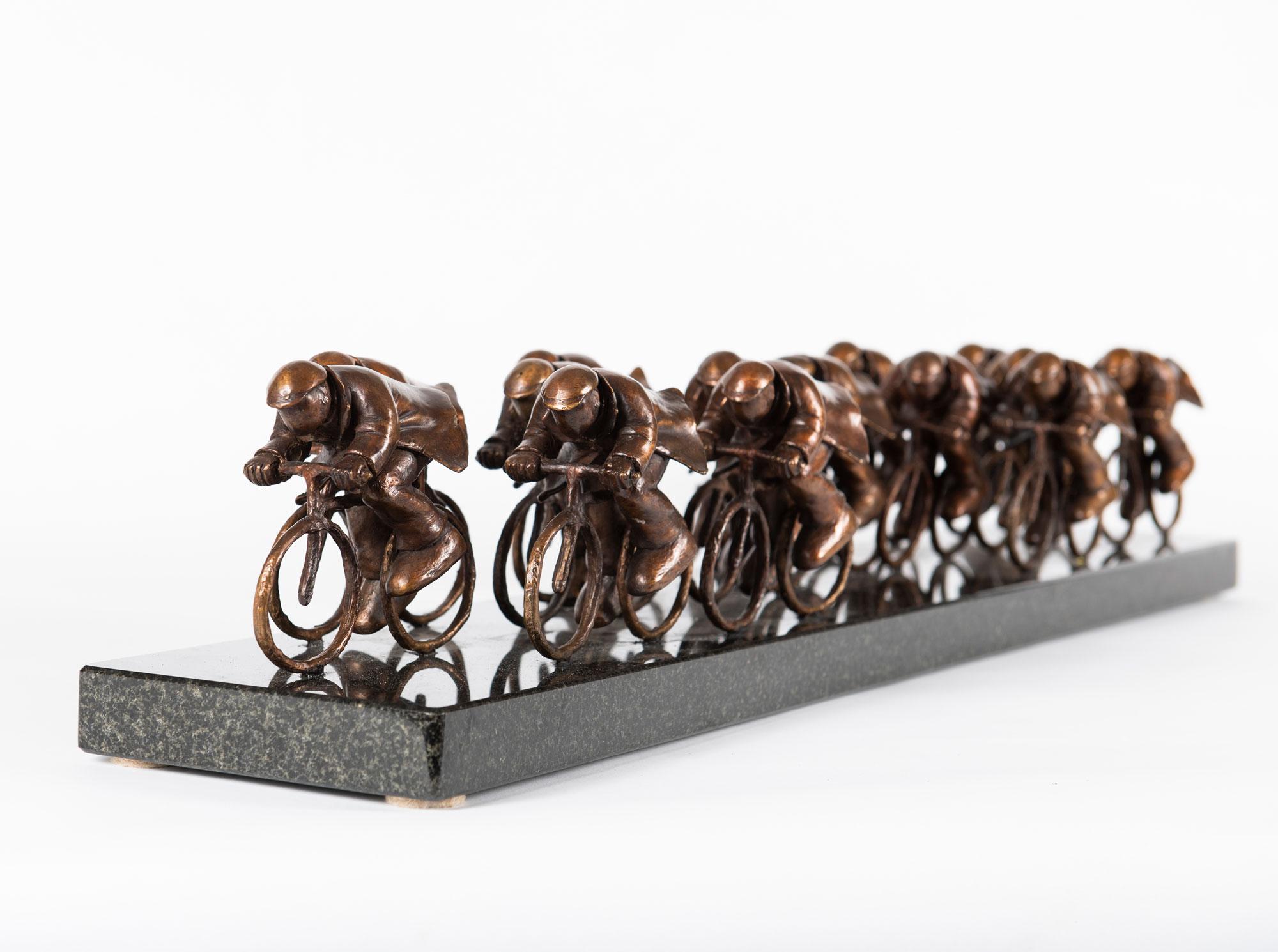The Race bronze sculpture by Mackenzie Thorpe