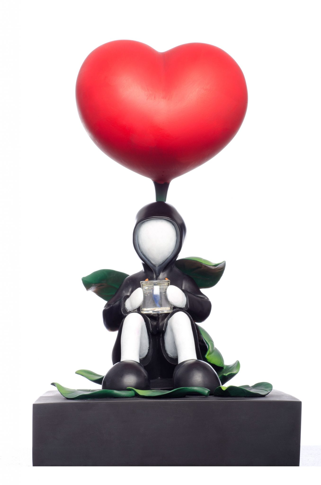 Waiting with Love big heart sculpture by Mackenzie Thorpe