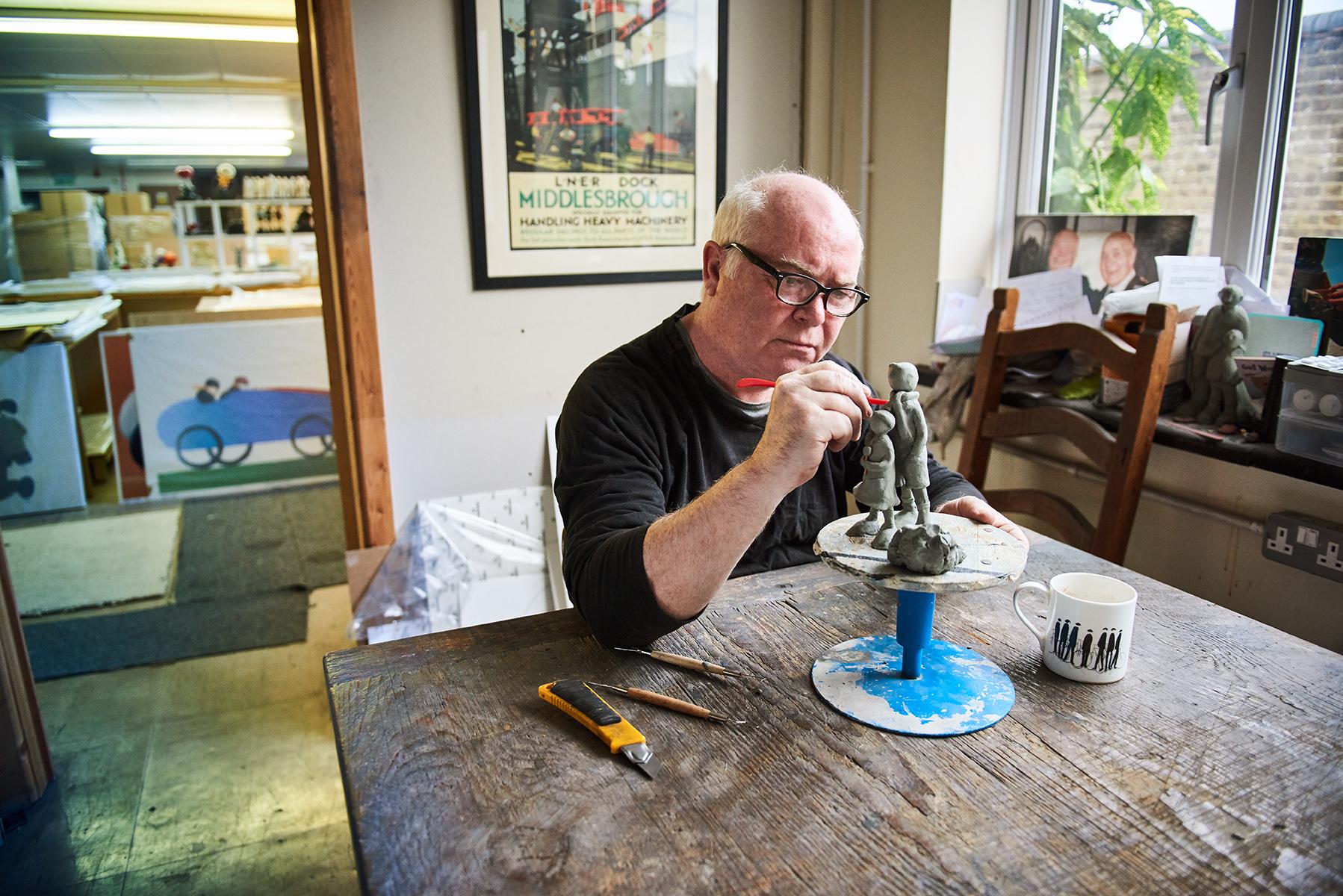 Artist Mackenzie Thorpe in the studio